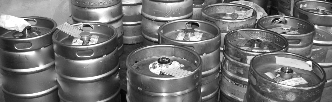 group of kegs